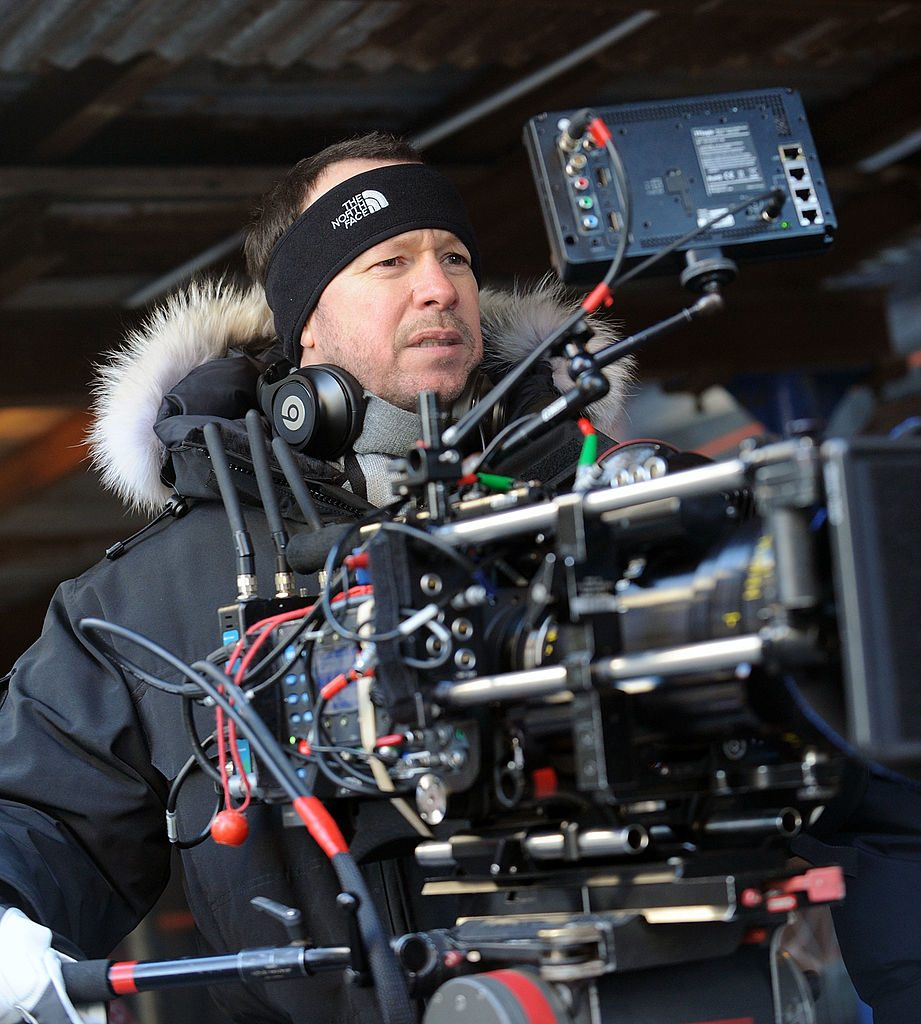Donnie Wahlberg directing a scene on Blue Bloods in 2014   Bobby Bank/WireImage