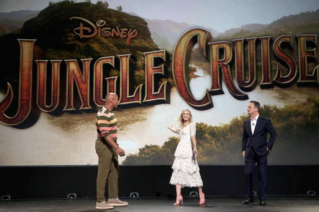 Dwayne Johnson and Emily Blunt, and Sean Bailey