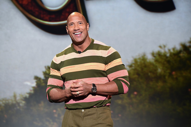 Dwayne The Rock Johnson at a Disney fan event