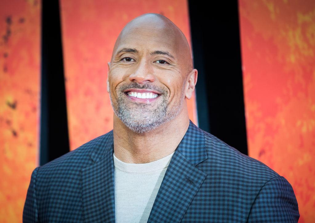 Dwayne The Rock Johnson at a Disney fan event