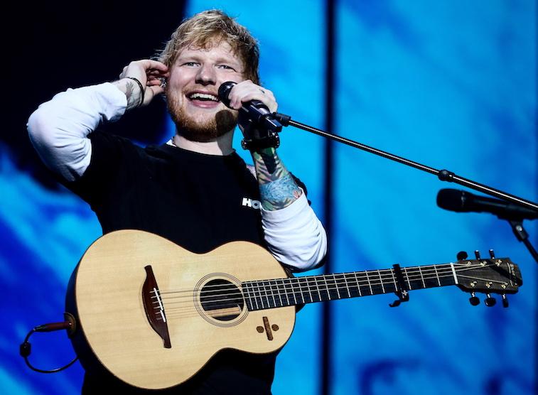 Ed Sheeran performs onstage