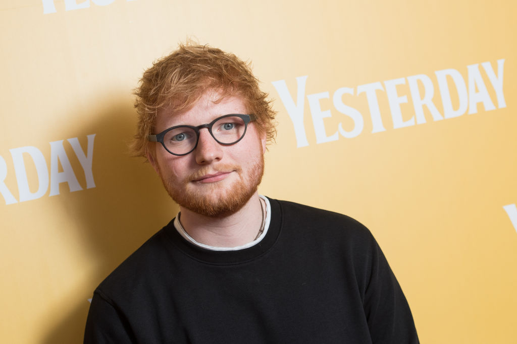 Ed Sheeran performing onstage