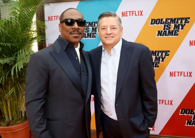 Eddie Murphy and Netflix Chief Content Officer Ted Sarandos at the 'Dolemite Is My Name' premiere