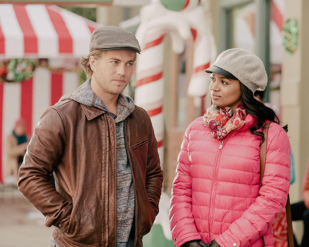 Edward Ruttle and Kyla Pratt in No Time Like Christmas