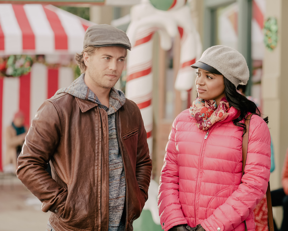 Edward Ruttle and Kyla Pratt in No Time Like Christmas