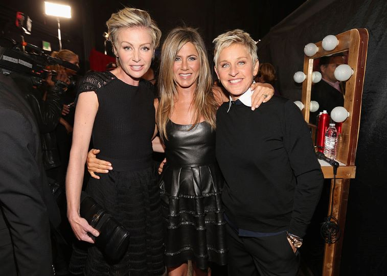 Ellen Degeneres, Jennifer Aniston and Portia de Rossi