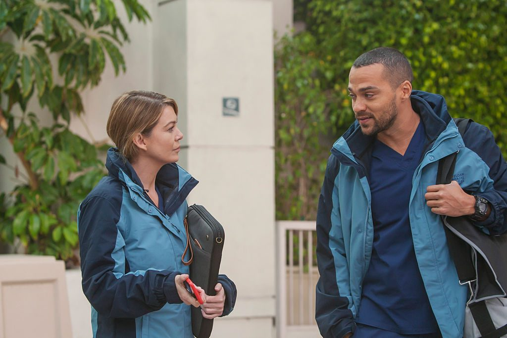 Ellen Pompeo and Jesse Williams on 'Grey's Anatomy'