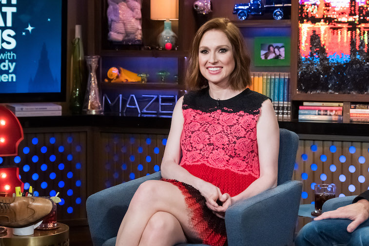 Ellie Kemper on the set of Watch What Happens Live