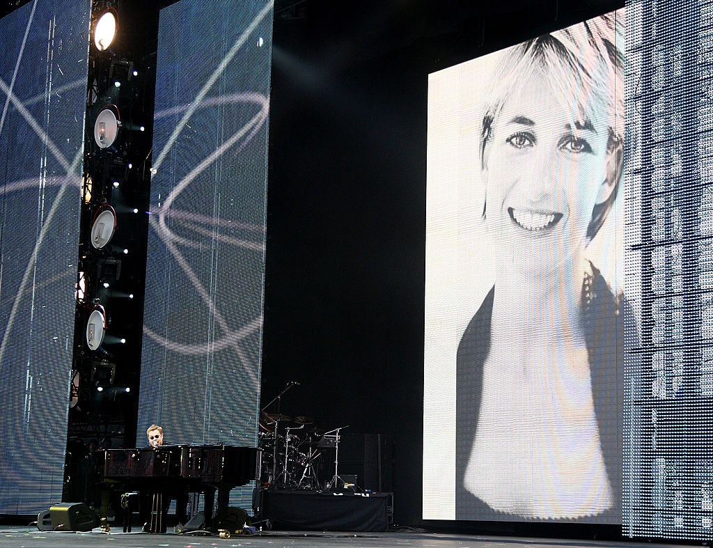Elton John at Concert for Diana