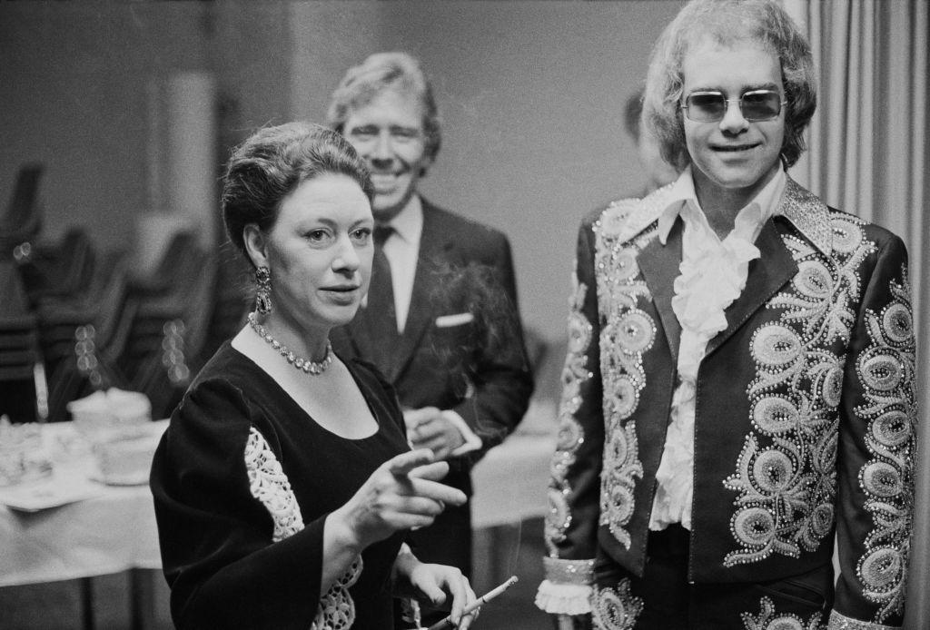 Elton John and Princess Margaret