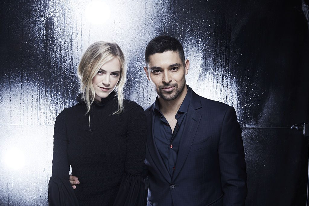 Emily Wickersham, Wilmer Valderrama visits the CBS Photo Booth during the PEOPLES CHOICE AWARDS.