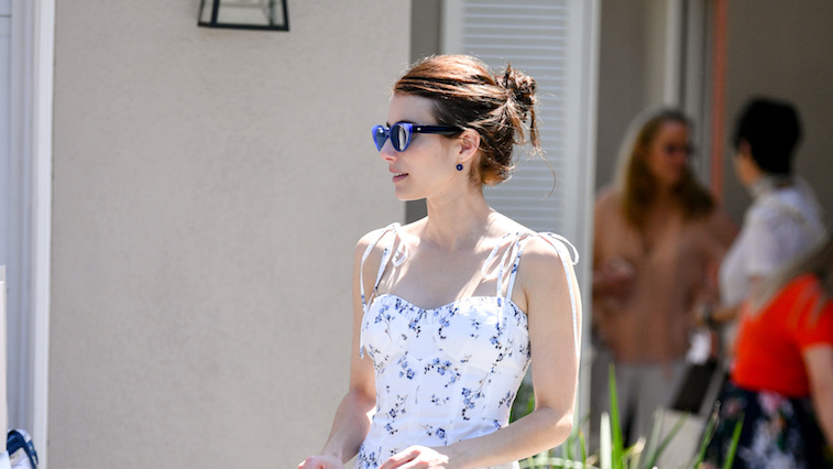 Emma Roberts walking in LA