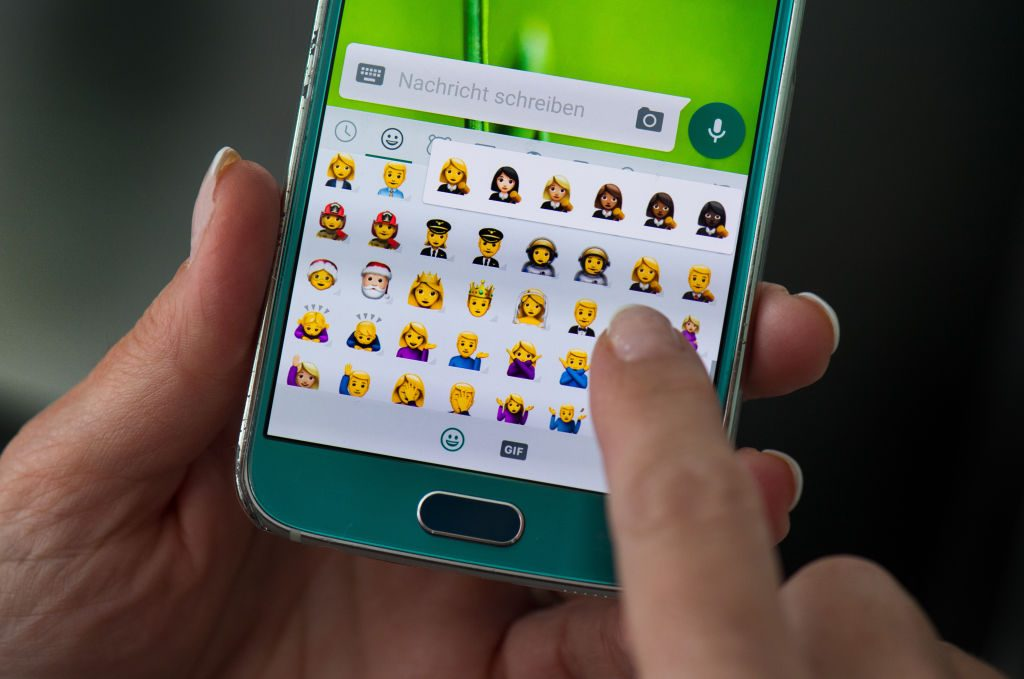 Emojis used to convey a message