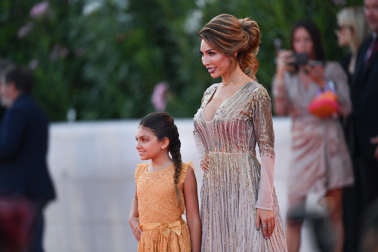 Farrah Abraham poses for a photo with her daughter