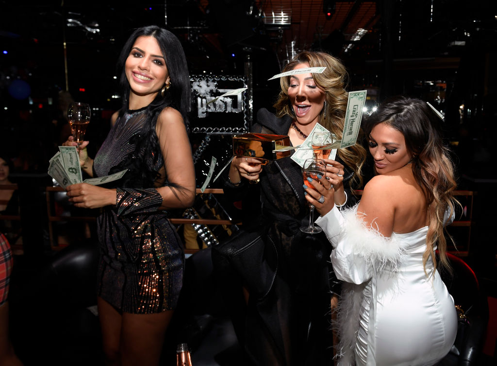 Larissa Dos Santos Lima, Farrah Abraham, and Jenni Harley at the Crazy Horse 3 Las Vegas