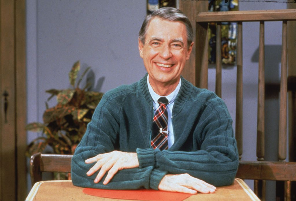 Fred Rogers of the television series 'Mister Rogers' Neighborhood'