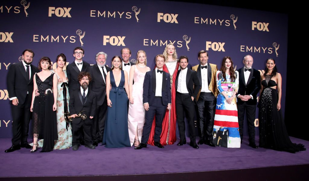 Game of Thrones cast and crew at the Emmys