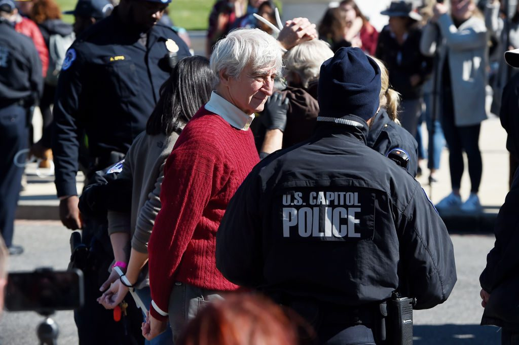 Sam Waterston arrested in climate change protest