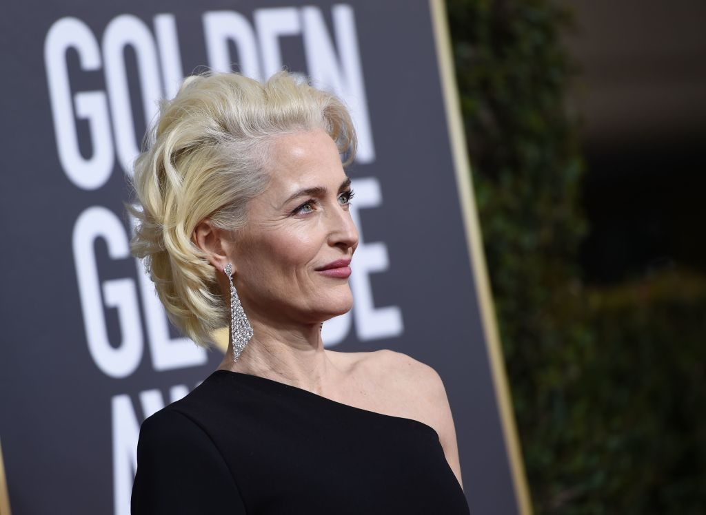 Gillian Anderson on the redcarpet