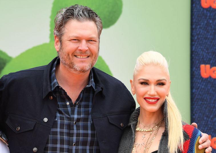 Gwen Stefani and Blake Shelton on the red carpet