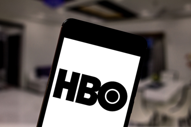 HBO logo shown on a smart phone screen