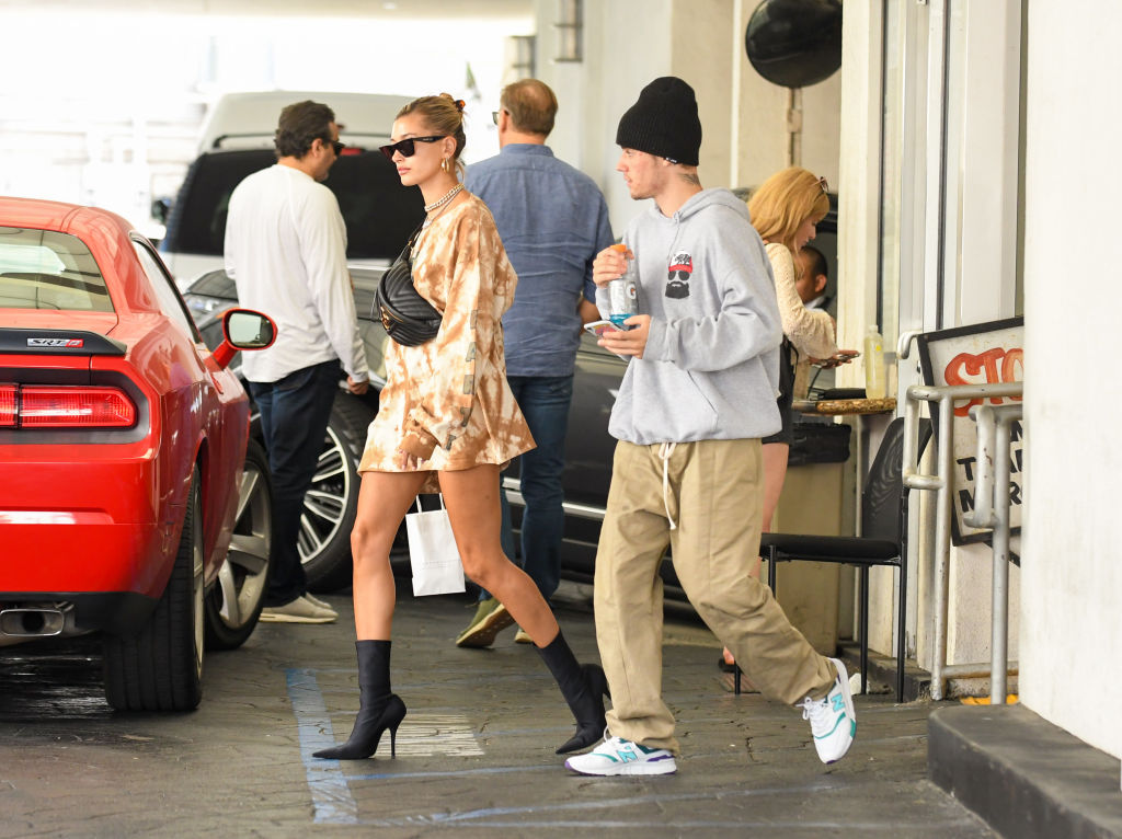 Hailey and Justin Bieber in Los Angeles