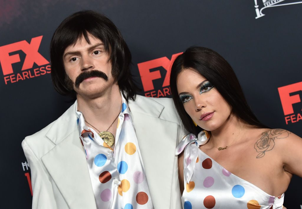 """Evan Peters and Halsey at FX's """"American Horror Story"""" 100th Episode Celebration"""