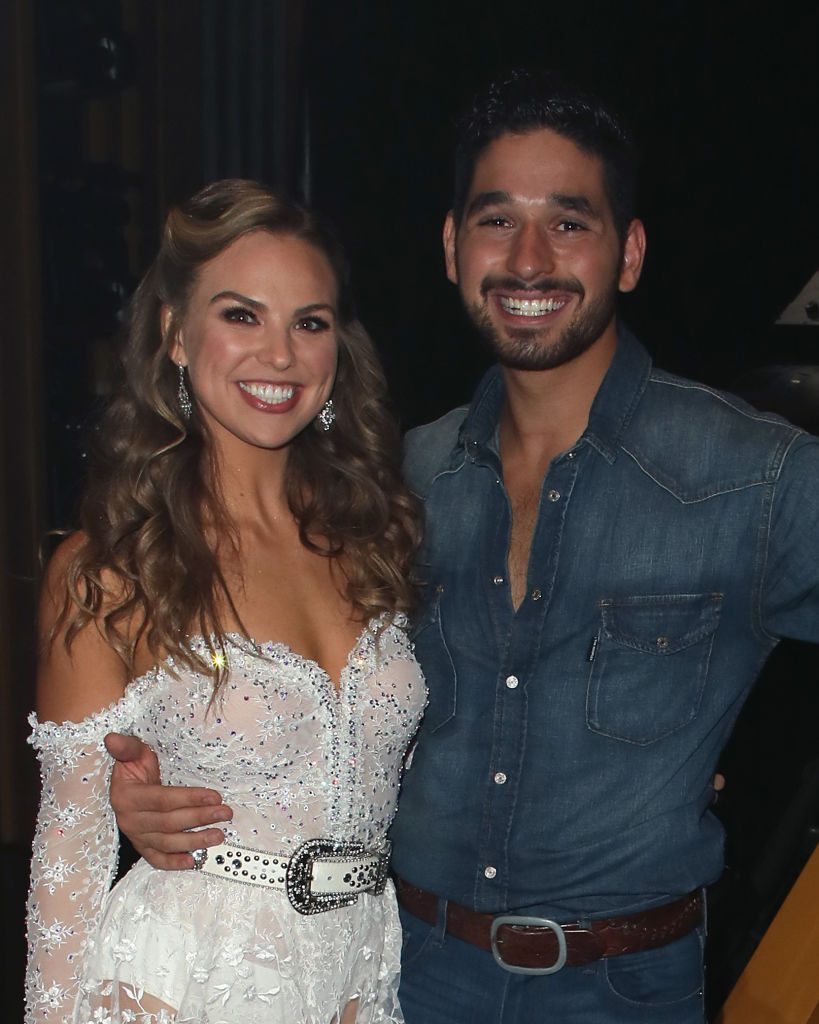 Hannah Brown and Alan Bersten | David Livingston/Getty Images