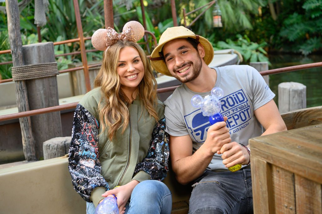 Hannah Brown and Alan Bersten from 'Dancing With the Stars' at Disneyland