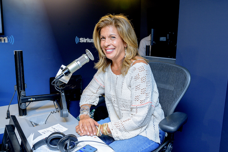 Hoda Kotb on the set of her show