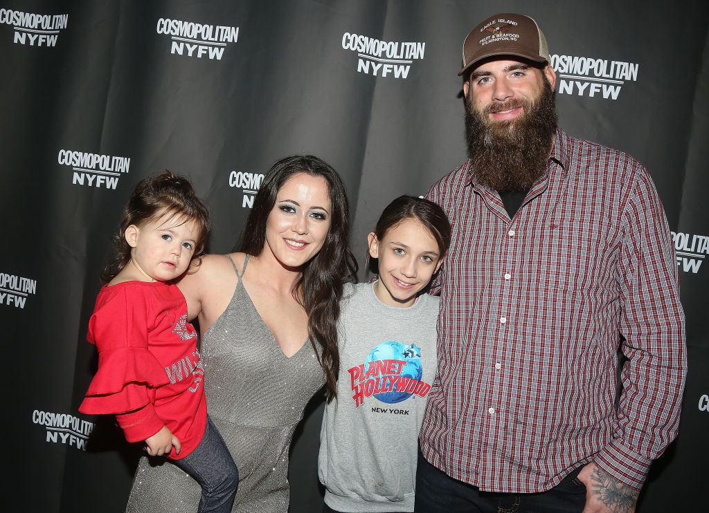 Jenelle Evans and David Eason with their daughter Ensley and David's daughter Maryssa