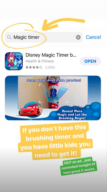 Jill Duggar's Instagram Story about teeth cleaning