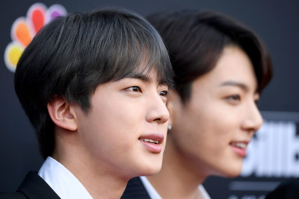 Jin and Jungkook from BTS | Frazer Harrison/Getty Images