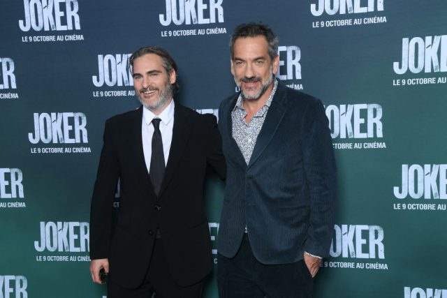 Joaquin Phoenix and Todd Phillips on the red carpet for 'Joker'