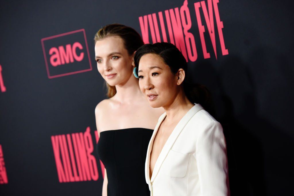 Jodie Comer and Sandra Oh at the Killing Eve premiere