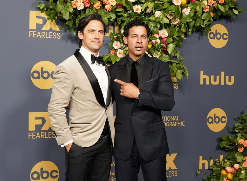 Jon Huertas and Milo Ventimiglia at the Disney Emmy party