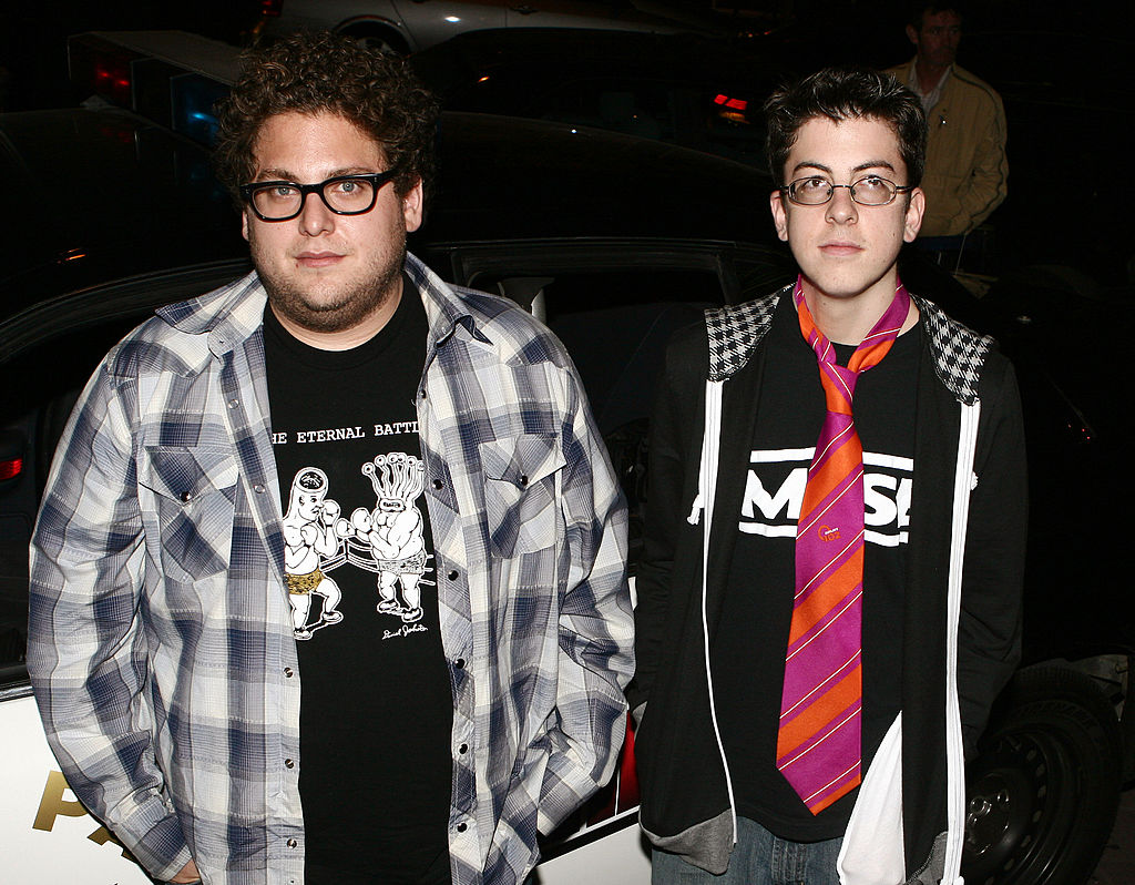 Jonah Hill and Christopher Mintz-Plasse at the Irish premiere of Superbad
