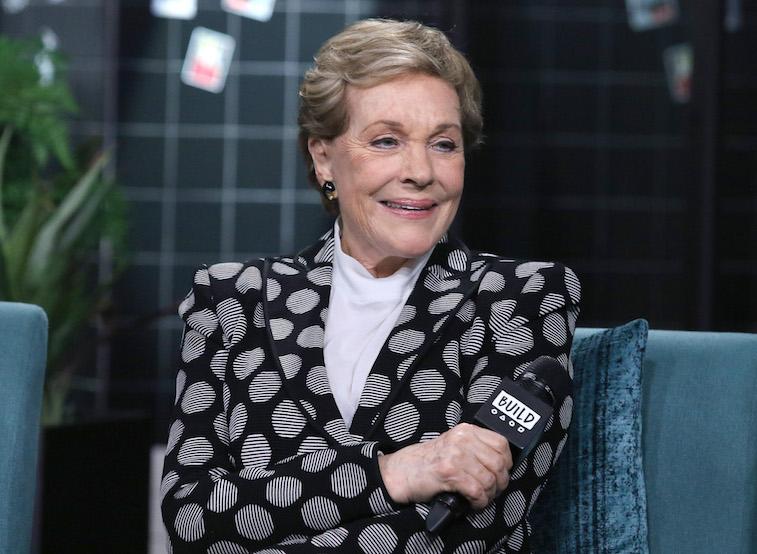 Julie Andrews being interviewed
