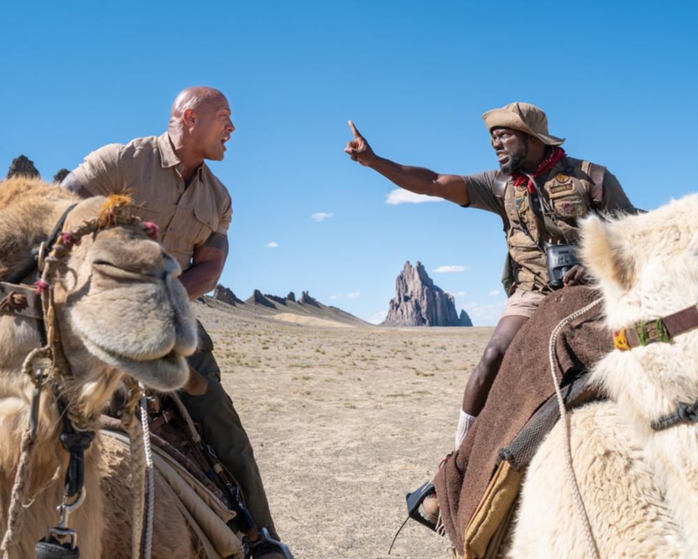 Dwayne Johnson and Kevin Hart in Jumanji: The Next Level