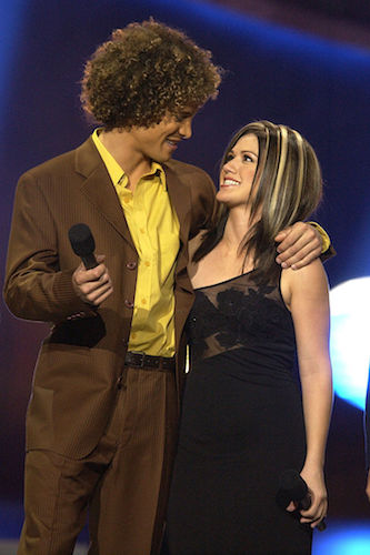 Justin Guarini and Kelly Clarkson