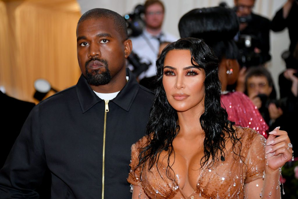 Kim Kardashian West and Kanye West at the Met Gala