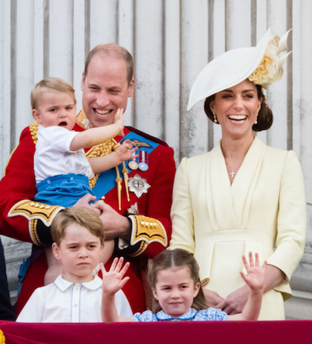 Prince William and Kate Middleton with Prince George, Princess Charlotte, and Prince Louis