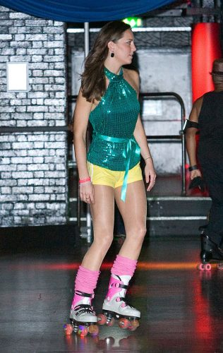 Kate Middleton at Roller Disco charity event, 2008