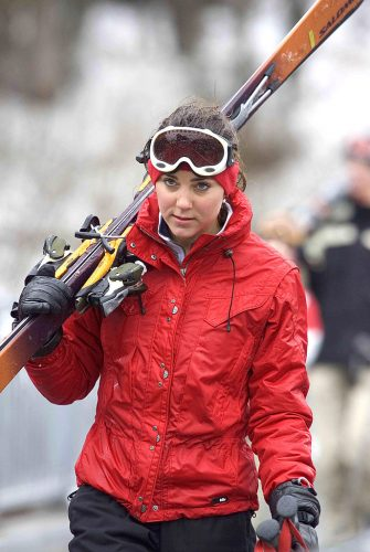 Kate Middleton skiing in Klosters, Switzerland