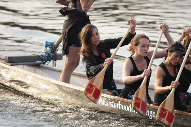 Kate Middleton training for Cross Channel Challenge with The Sisterhood On The River Thames
