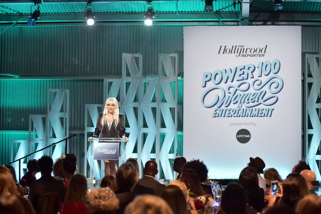 Kesha speaks onstage during The Hollywood Reporter's Power 100 Women In Entertainment