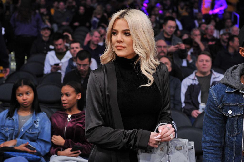 Khloe Kardashian at a basketball game