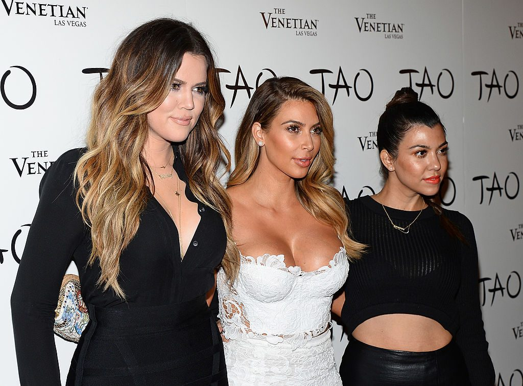Khloe Kardashian, Kim Kardashian and Kourtney Kardashian