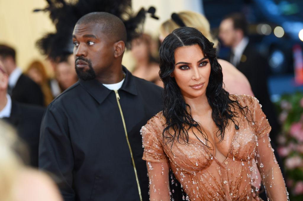 Kim Kardashian and Kanye west together at the Met gala