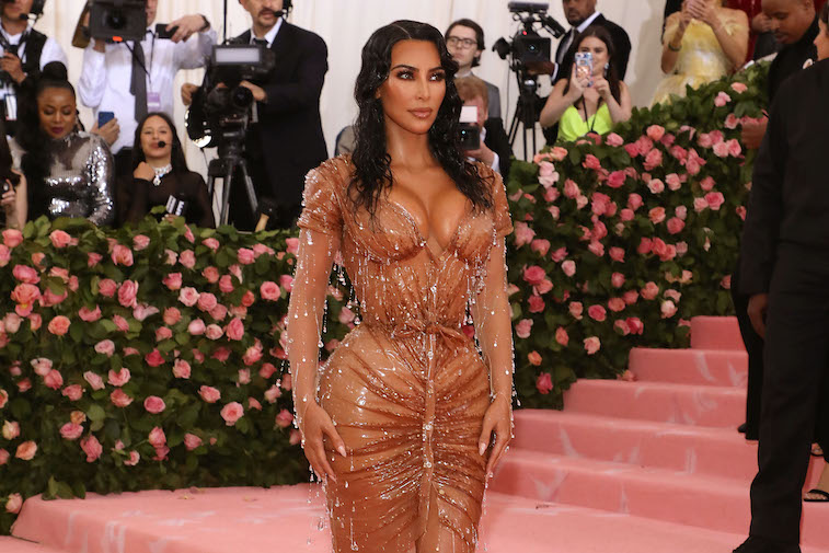 Kim Kardashian in a dress at the Met Gala